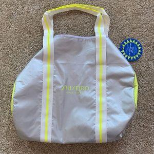 Shiseido Sun & Sport Metallic Yellow Gym Bag